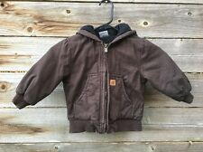 Carhartt Baby Boys' Active Quilted Flannel Lined Jacket Brown 24 Months- EUC!