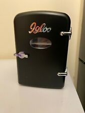 Matte black Igloo mini can fridge, cooler, hot and cold options, used only once