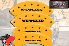 "2008-2012 Jeep Liberty Front Rear ""Wrangler"" Yellow MGP Brake Disc Caliper Cover"