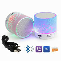 Bluetooth Wireless Mini Portable Speaker Bass for MP3 iPhone iPad Night Light UK