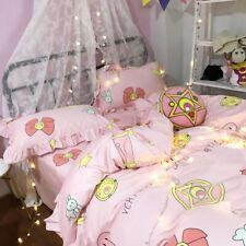Sailor Moon Luna Cute Pink Bedding Home Decor Duvet Cover Sheet Blanket Sets New