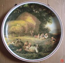 Un Named Collectors Plate HARVEST TIME By WILLIAM SHAYER