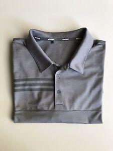 Adidas NWOT Mens Golf Performance Polo Top Active T-Shirt Grey Size 2XL XXL
