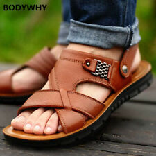 2020 Size 48 men's leather sandals summer slippers soft bottom sandals TOP