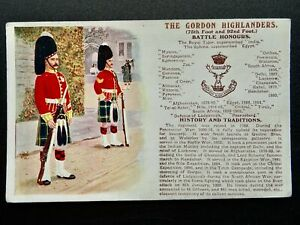 History & Tradition THE GORDON HIGHLANDERS Postcard by Gale & Polden No.95