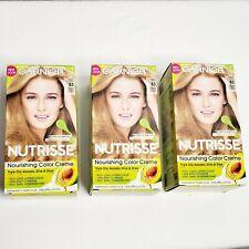 3 Boxes Garnier Nutrisse 83 Cream Soda Medium Golden Blonde Permanent Hair Color