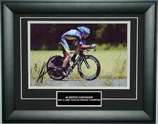 Alberto Contador Signed 8X12 inches Tour De France Photo Frame
