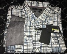Bugatchi Shaped Fit Shirt NWT - Men's SPRING Large cS3723L1S Abstract