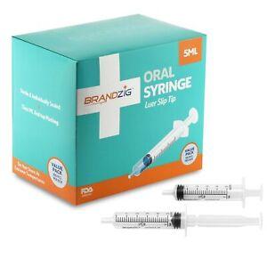 5ml Syringe - 100 Pack – Luer Slip Tip, FDA Approved