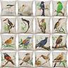18'' Bird Pattern pillow case cover sofa waist cushion cover Home Decor