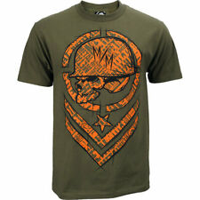 Metal Mulisha Shred T shirt mens Military Green Short Sleeve MX FMX Tee SALE