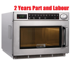 Buffalo Commercial Programmable Microwave Oven 1500W Restaurant Pub Mircowave