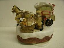 Vintage Jamestown China Toy Maker Wagon w/ Horse Music Box