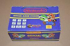 1992 MERLIN Nintendo Stickers Full Box 100 packs Super Mario Bros Zelda NES