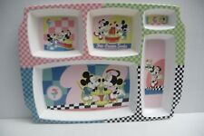 Disney Mickey and Minnie Mouse  MULTI-SECTION FUN FOOD TRAY