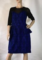 CITY CHIC SIZE XS (14) SPECIAL OCCASIONS PEPLUM STYLE DRESS AS NEW