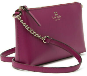 Kate Spade Chain Declan Crossbody Red Purple Smooth Leather WKRU6081 NWT $248