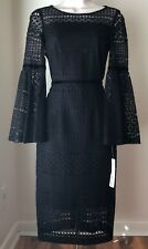Antonio Melani ALFA Lace Bell-sleeve Dress Size 2 Regular 8