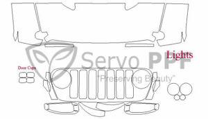 Precut 3M PRO Series Clear Bra Kit for 18+ Jeep Wrangler Rubicon JL Chasis