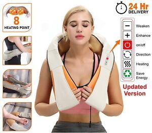 Neck Shoulder Massager Electric Shiatsu Kneading Back Massage Pain Relief Heat