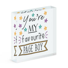 You're My Favourite Page Boy Stars Acrylic Photo Block Frame Funny Wedding
