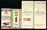 US Stamped Postal Documents and Savings Books