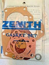 GENUINE ZENITH 36 WIA WIP  CARBURETTOR GASKET SET + ISOLATOR BLOCK