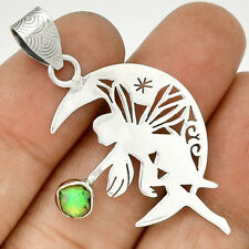 Moon Fairy - Ethiopian Opal Rough 925 Sterling Silver Pendant Jewelry PP102189
