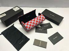 Dolce & Gabbana Case Large Red Flowers Case Sheath Bag Pouch Box Big Case Dg D&G