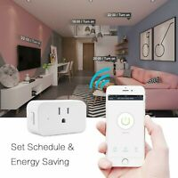 Remote control WiFi Smart Plug Outlet,Mini Smart Socket with 2 PACK