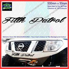 FILTH PATROL 4.2 TURBO DIESEL INTERCOOLED GU Doors Custom sticker 500mm