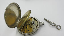 Robert Roskell Pocket Watch  Liverpool key wind with key for parts or repair
