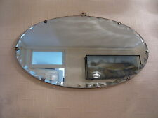 ART DECO 1930's LARGE SCALLOP DESIGN FRAMELESS BEVELLED EDGE WALL MIRROR