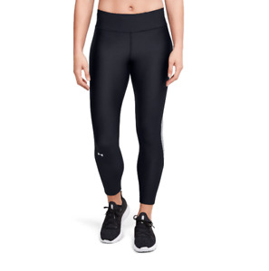 Under Armour Training Tights Womens Small Authentic Black Compression Ankle Crop