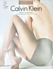 Calvin Klein Matte Ultra Sheer With Control Top Pantyhose, Buff, Size D, NWT