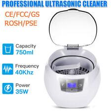 750ml Digital Ultrasonic Cleaner Ultra Sonic Bath Cleaning Tank Timer US Plug