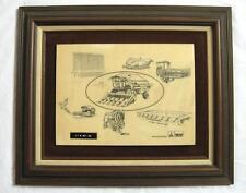 VTG Deutz Allis Dealer Sign Picture Gleaner R50 Combine Rare KHD Kansas City MO
