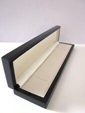 Affordable Luxury Real Wood BLACK Gloss Watch Bracelet Jewellery Gift Box-W7/B