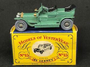 *HTF Matchbox Yesteryear Y15-1-2 (*Grey Wheels) Rolls Royce Silver Ghost &C Box