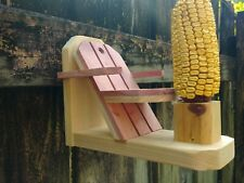 Chair and Table Corncob Squirrel Feeder