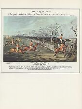"""1974 Vintage HUNTING """"QUORN HUNT: SNOB IS BEAT"""" POOR RIDER COLOR Art Lithograph"""