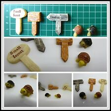 5 Pcs Set House Miniature 1:12, 2 x Tortoise,3 x Signs,Models,Dolls house,Mini