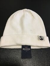 NEW Hollister Cream Off White Color Beanie Hat Unisex