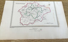 Antique Map Buckingham Showing Boundary Of Borough By S Lewis C 1835 Walker