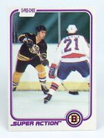 1981-82 Ray Bourque #17 Boston Bruins OPC O-Pee-Chee Action Hockey Card H458