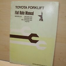Toyota 3fg 3fd Series Forklift Flat Rate Service Time Estimate Manual 50 60 70