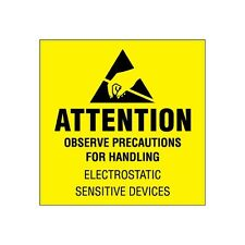 """""""Tape Logic Labels """"""""Attention, Observe Precautions"""""""" 2""""""""x2"""" 4; Fluorescent Yellow"""