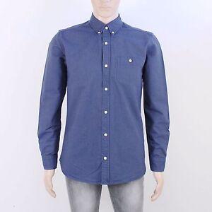 Next Mens Size M Blue Long Sleeve Oxford Shirt