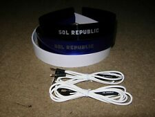 Qty 3 x Sol Republic headbands & Cable (Tracks headphones) Blue ,White & Black