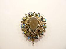 Spectacular Vintage Juliana Dark AB Rhinestone Brooch / Pin / Pendant